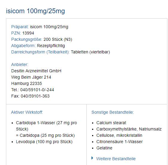 Beispiel Medikamentendaten - isicom